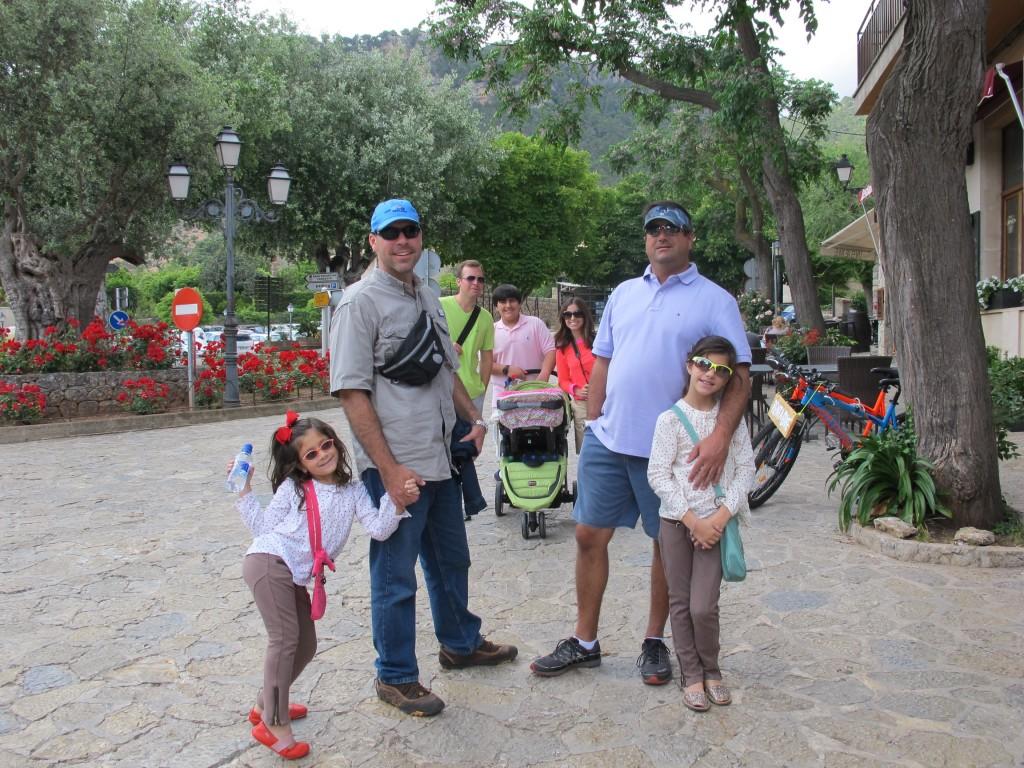 Family stroll in Valdemossa, Mallorca.